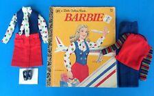 Vintage Barbie GET UPS N GO UNITED AIRLINES STEWARDESS Outfit & GOLDEN BOOK 1973