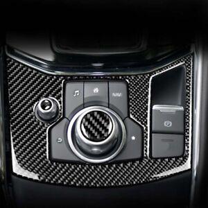 RHD Car Carbon Side EPB Center Console Gear Shift Trim Fit For Mazda CX-5