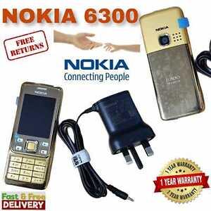 New Nokia 6300 GOLD Unlocked Camera Bluetooth Classic Mobile Phone Uk Stock