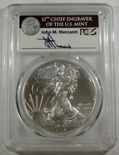 2017 Silver Eagle PCGS MS70 Mercanti Autograph -  POP of Only 1000