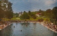 Postcard Water Fun Majestic Pool Pocono Gardens Lodge Cresco Pa