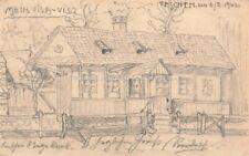 Ak Handgemalt Ansicht Haus mit Zaun und Garten in Teschen Polen 1901