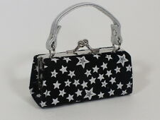"""Silver Stars Kiss Lock Purse Bag for 18"""" American Girl Doll Clothes Accessory"""