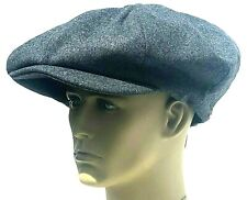 Peaky Blinders Oversized Hat Newsboy Big Apple Gatsby Cap Flat Baker Boy Grey