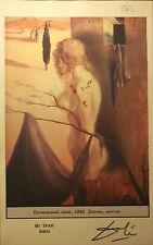 Salvador Dali Raro Color Litografía Firmado A Mano Original Gala