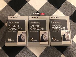 Fujifilm Instax Mini Mono Chrome Instant Film Black White 3 x 10 = 30 Sheets
