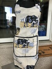 Unisex Cooking Apron Kitchen, Cows Bull Trees Farming Outdoors