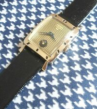 """Vintage 1955 USA in 10K Gold Filled Elgin """"Holcomb"""" 19 Jewels Mens Watch"""