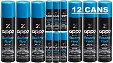 Genuine Zippo Premium Butane Lighter Fuel Gas Refill 1.48 oz. 42 g (12 Cans) USA