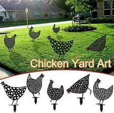 2021 Chicken Yard Art Garden Metal Statue Decor