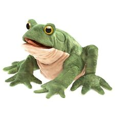 Green Toad Hand Puppet by Folkmanis with Movable Mouth & Legs MPN 3099, 3 & Up