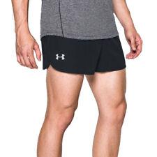 Under Armour UA HeatGear Mens Reflective Performance Split Black Running Shorts