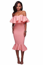 Off the Shoulder Party/Cocktail Machine Washable Dresses for Women