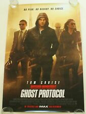 MISSION IMPOSSIBLE GHOST PROTOCOL 27X40 DS MOVIE POSTER ONE SHEET NEW AUTHENTIC