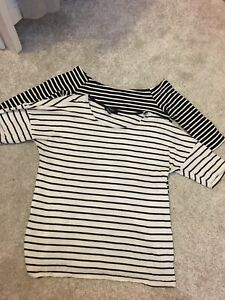 New Look X2 Maternity Striped Tops Size 10 Bundle