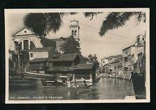 Italy Venice VENEZIA Squero S.Trovaso unused 1944 RP PPC