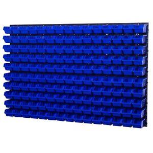 Stapelboxen Wandregal Box Sichtlagerkästen Schüttenregal Lagersystem 150 Boxen