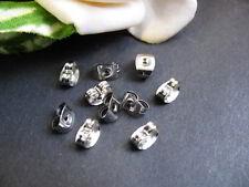 20 Ohrring Verschlüsse silbern, Ohrmutter Ohrstecker Verschluss, Perlen basteln