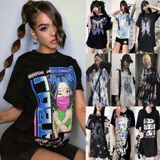 Gothic Dark Punk Grunge Print T-shirt Loose Harajuku Streetwear Tops Women Shirt