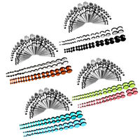 72Pcs Metal Taper Stretcher+Ear Plugs Expander Gauges Acrylic Stretching Kit