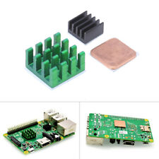 3Pcs Aluminum Heat Sink w/ Copper Cooling Sinks for Raspberry Pi 2/3 Model B/B+