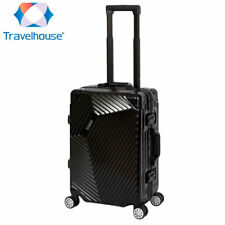 Travelhouse Roma S-55cm Bordtrolley Reisekoffer Handgepäck Bordkoffer Schwarz