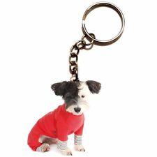 Acrylic Cute Dog Keychain Women Jewelry Men Boy Bag Keyring Animal Lover Gift