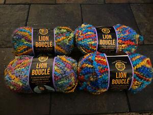 Lion Brand Boucle Tutti Fruitti 3 Skeins 70g 57yd