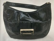Anya Hindmarch for Target Satchel Handbag Black Faux Patent Leather