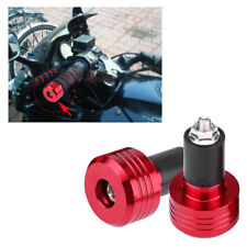 Red Motorcycle 7/8'' 22mm CNC Handlebar Bar End Weight Caps Plugs Sliders Grip