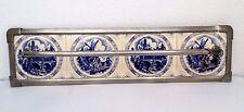 Villeroy & Boch antiker Handtuchhalter Art Deco Fliesenspiegel Delfts