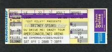 2000 Britney Spears Full concert ticket Oops! I Did It Again Crazy Tour Miami FL