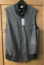 Paul Smith Mainline-Waistcoat- Grey- Virgin Wool & Cashmere- Size Medium - 38""