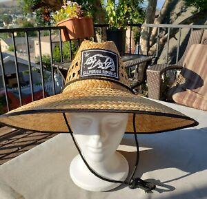 Wide Brim Straw Summer HAT California Republic Sombrero BEACH LIFEGUARD