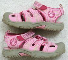 Buster Brown Sandals Shoes 9 Nine Girls Kids Man Made Materials Pink Gray Green