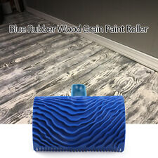 Blue Rubber Wood Grain Paint Roller DIY Graining Wall Painting Tools With