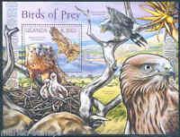 UGANDA 2012 BIRDS OF PREY  SOUVENIR SHEET MINT NH