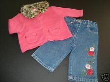 Gymboree Teachers Pet Pink Sweater Denim Rose Jeans 3-6