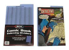 (10) BCW-CD-INDEX Blue Comic Book Index Divider Bin Cards Dividers Separators