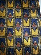 Raphael  100% Silk   Gold Blue Red Geometric New Tie