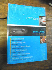 catalogue roulunds rubber 2007/2008 - application guide - liste correspondance