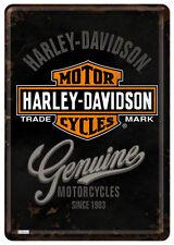 Harley Davidson Genuine Blechschild 10x14 cm Blechkarte 10124 Sign