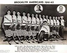 1941-42 BROOKLYN AMERICANS AMERKS NHL HOCKEY TEAM 8X10 PHOTO