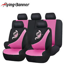 Universal Car Seat Covers Full Set Butterfly Pink Washable Airbag Ship From UK