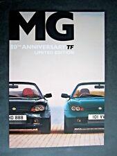 MG TF - RARE 2004 UK 80th ANNIVERSARY LIMITED EDITION BROCHURE - MG-F MG ROVER
