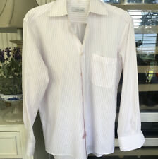 CHARLES JOURDAN MENS SHIRT PINK AND WHITE STRIPE S