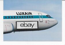 LUXAIR BOEING 737-400 AIRLINE ISSUE POSTCARD CHATEAU DE ROTHCHILD 1990'S LIVERY