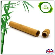 Bamboo Toothbrush Tube Holder Case Natural Wood Portable Travel Eco-friendly UK