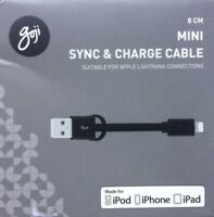 Goji GSLNBK17C 8cm Mini Lightning Sync & Charge Cable - Black
