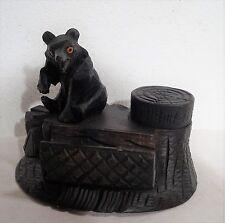 Holzschnitzarbeit Sculptur Brienzer Bär Holz Figur Schreibtischablage   ~1900
